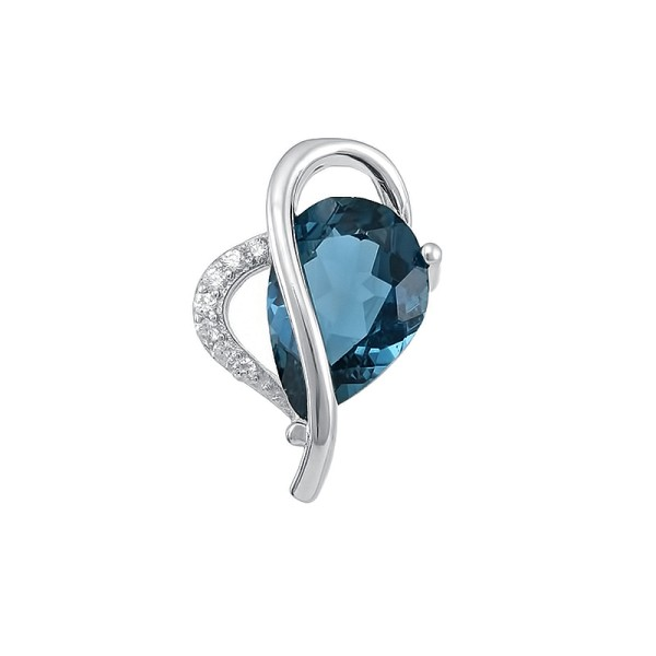 "Кулон ""London blue"" серебра 925"