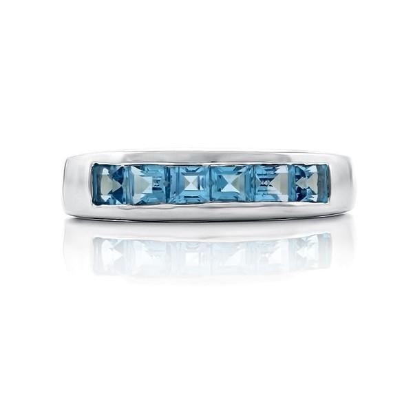 Кольцо с синими топазами из серебра 925 пробы