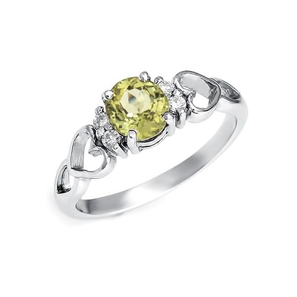 кольцо с турмалином из серебра 925 пробы