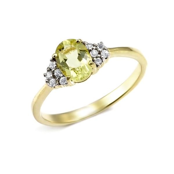 кольцо с натуральным бериллом