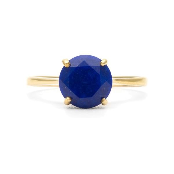 Кольцо с лазуритом покрытое золотом