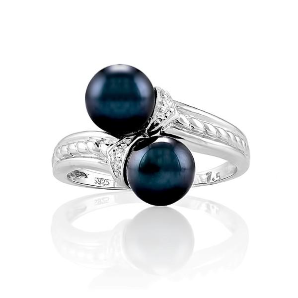 Кольцо с морским жемчугом из серебра 925 пробы