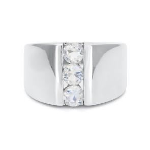 Кольцо с лунным камнем из серебра 925 пробы